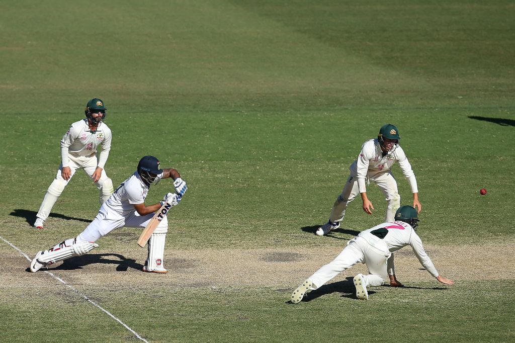 India's Hanuma Vihari battled away at the crease. Photo: Getty Images