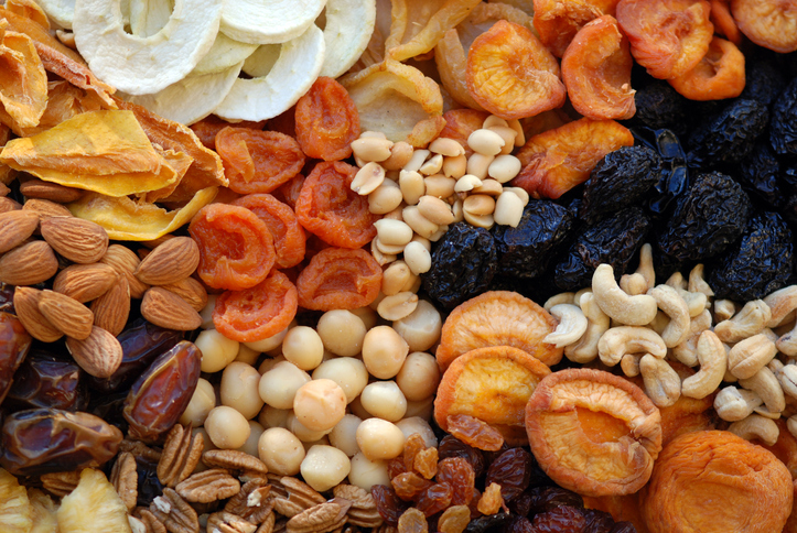 Dried fruit and nuts are among the foods that childcare centres are not allowed to provide. Photo...