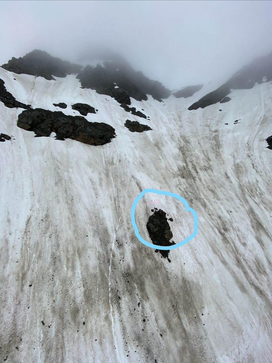 The climbers were located near Stewart's Glacier in the Fitzgerald Pass in the Aroarokaehe range....
