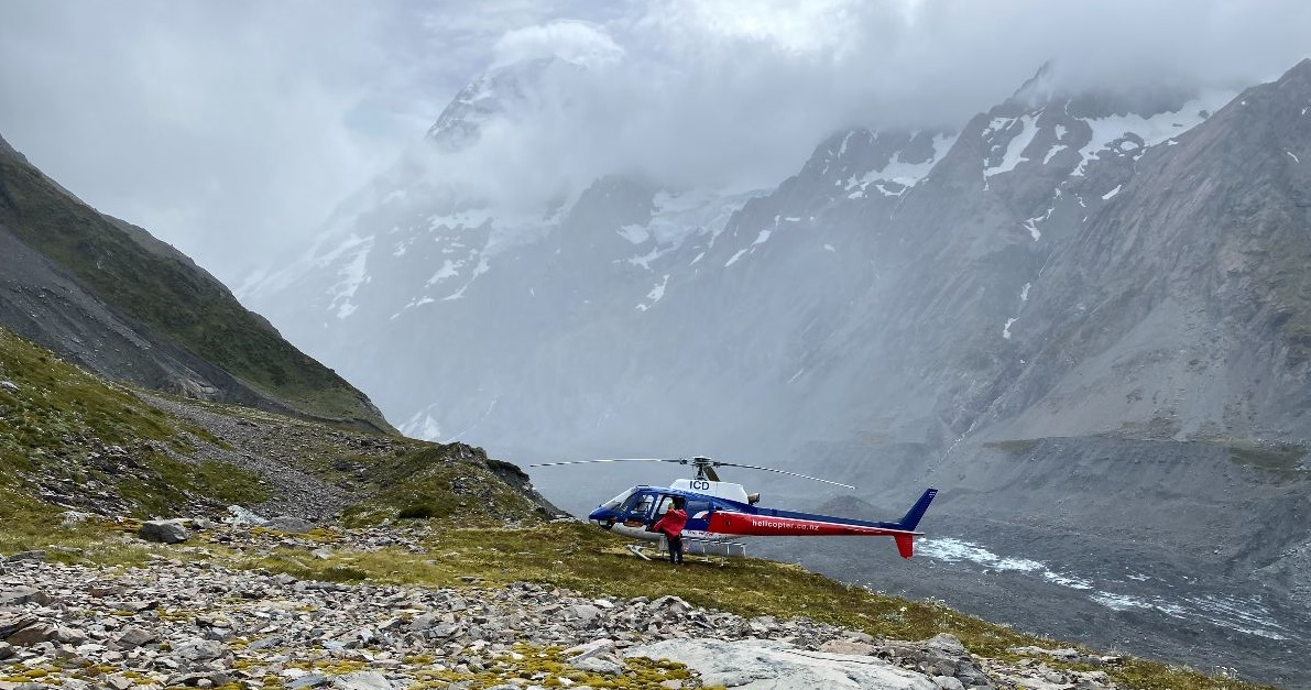 The Helicopter Line flew the climbers and rescue team back to safety.  Photo: Maritime NZ