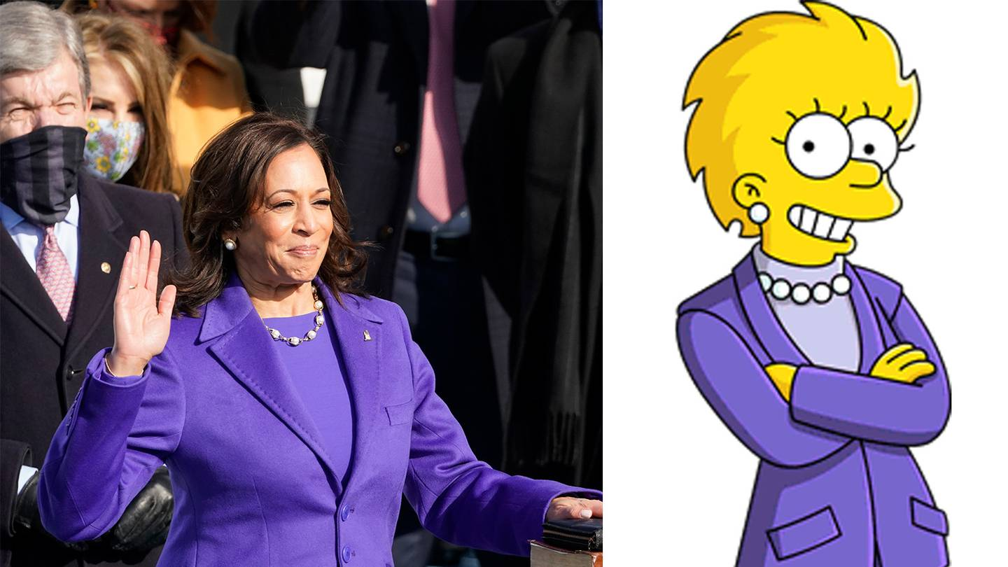 Newly sworn in US Vice President Kamala Harris has worn an outfit to her inauguration that looks...