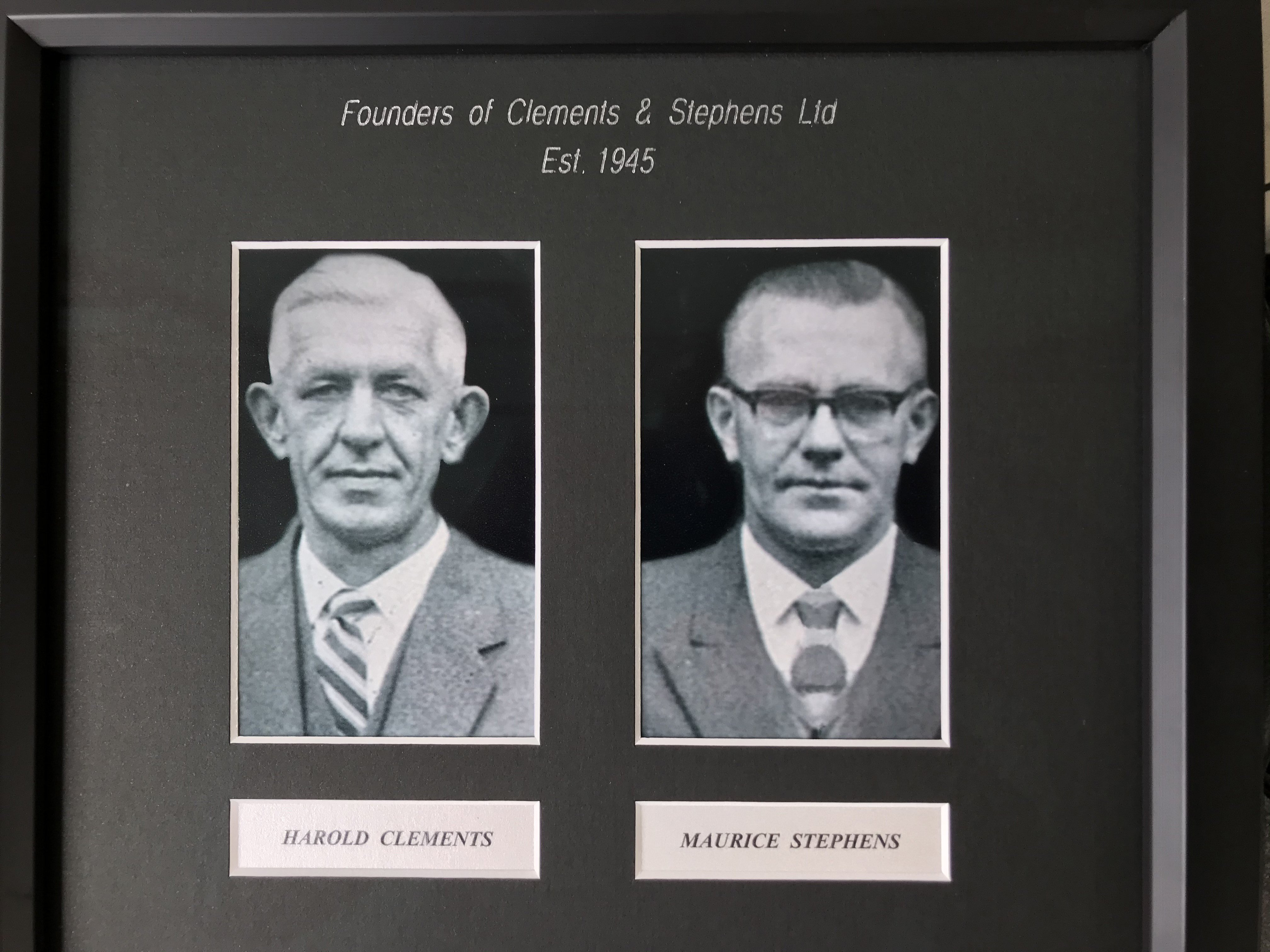 At left: Harold Clements (left) and Maurice Stephens started Clements & Stephens panelbeaters in...