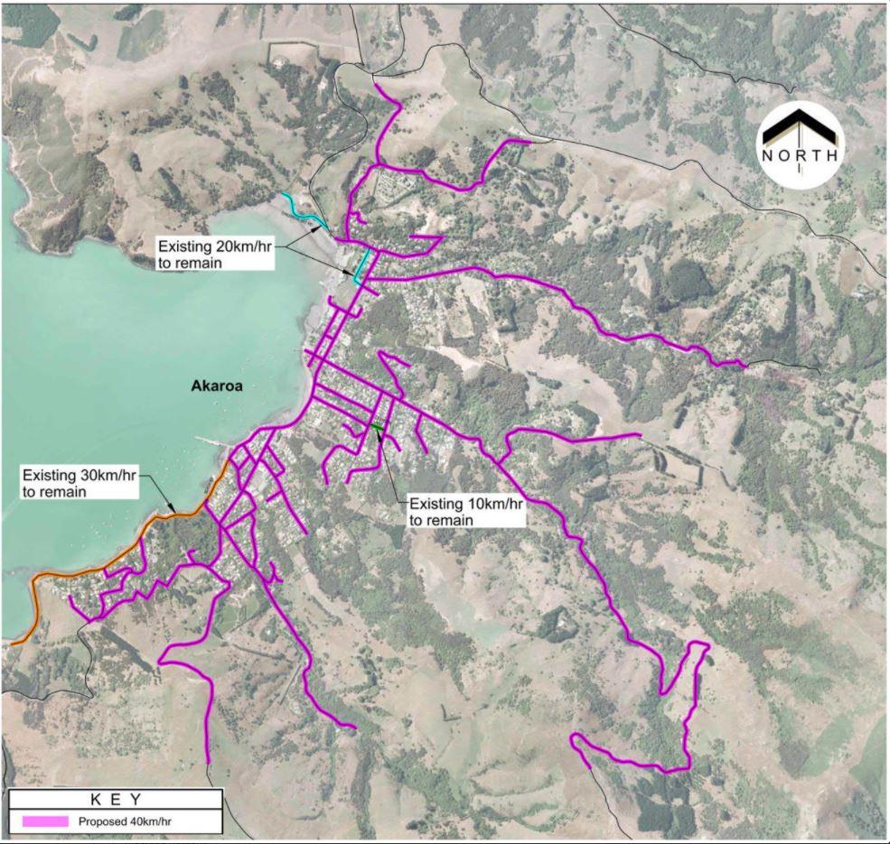 The Akaroa speed review area. Image: Newsline
