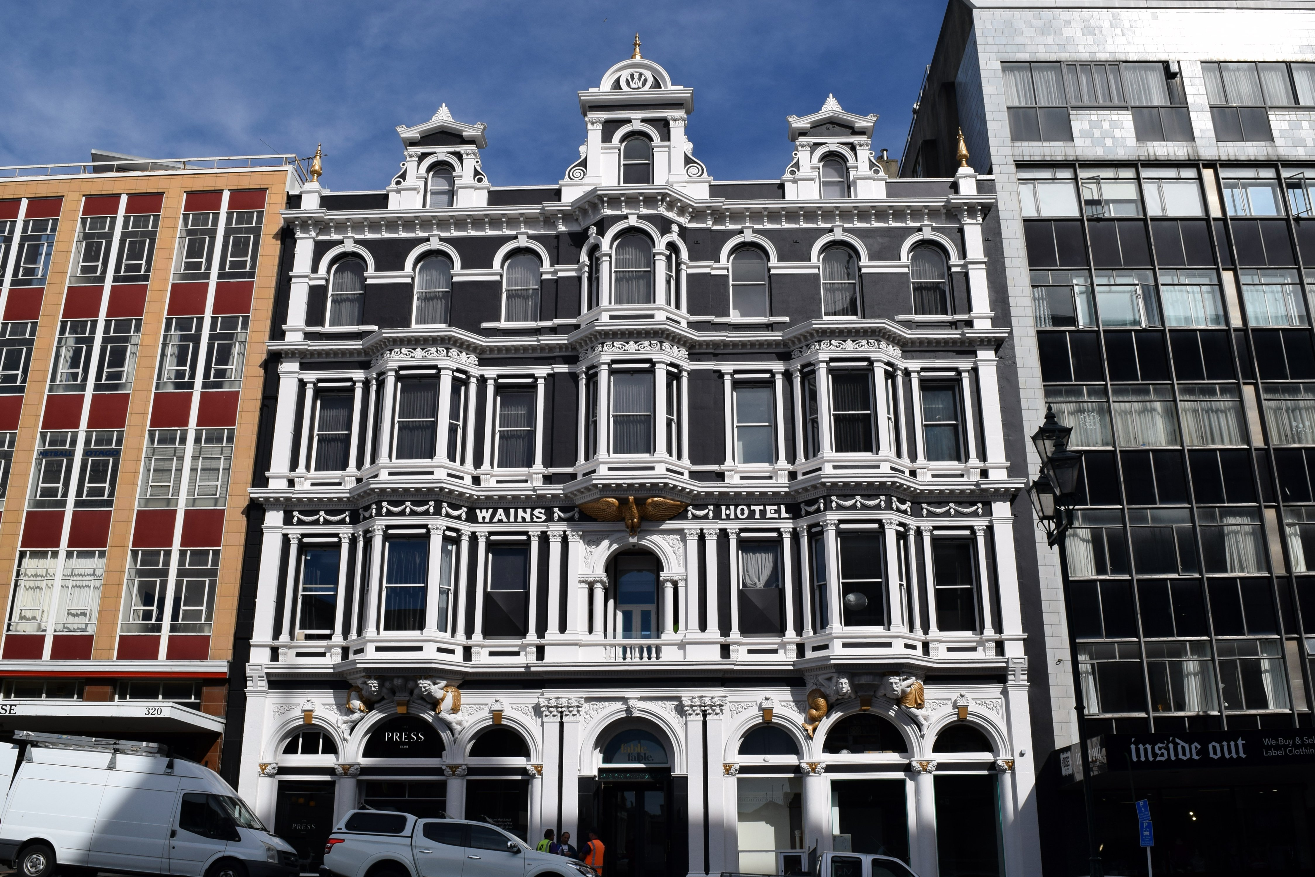 The refurbished facade of boutique hotel Fable Dunedin, in Princes St. PHOTOS: SHAWN MCAVINUE