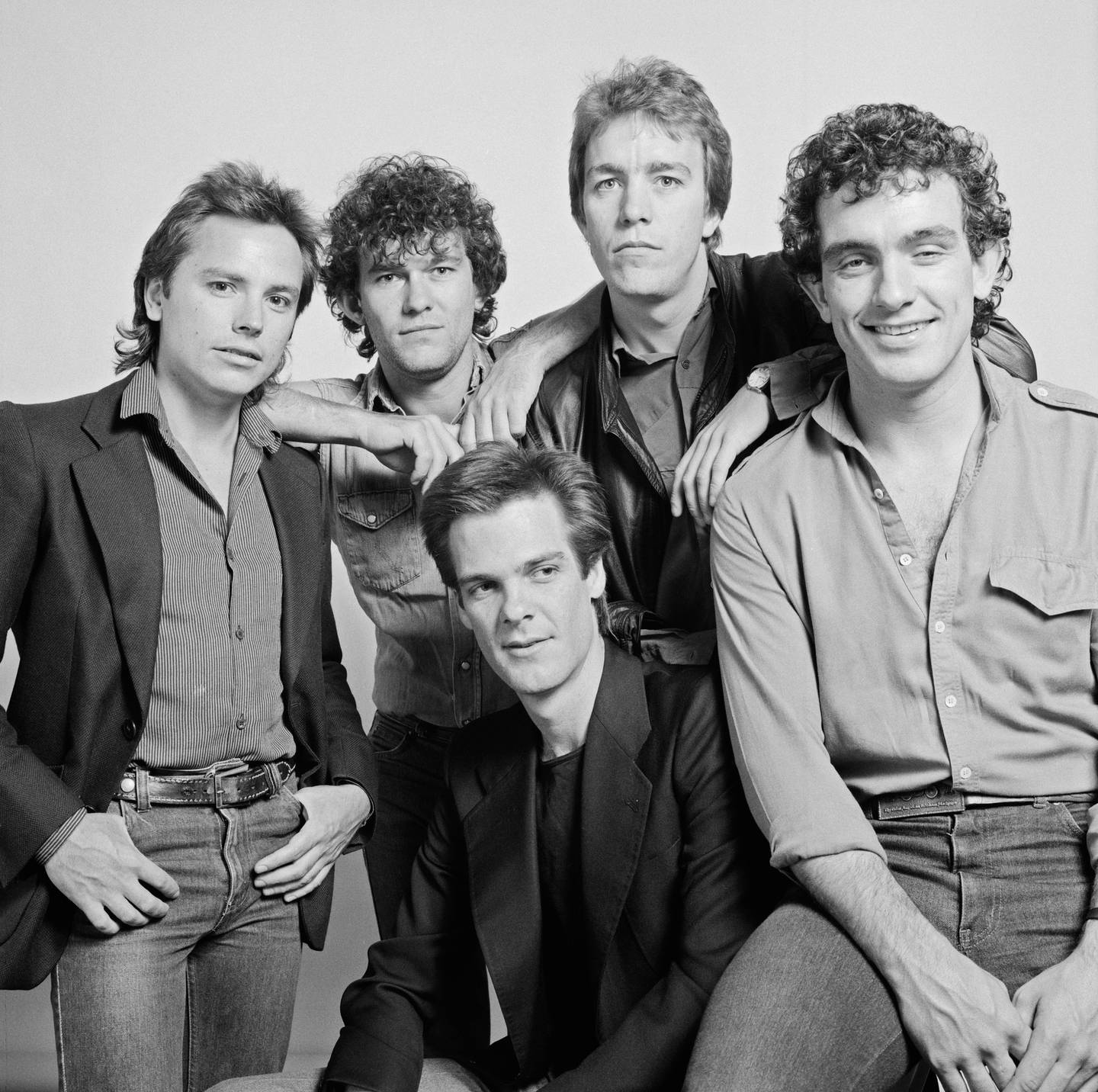 Australian rock group Cold Chisel in 1982. Clockwise, from left: bassist Phil Small, singer Jimmy...