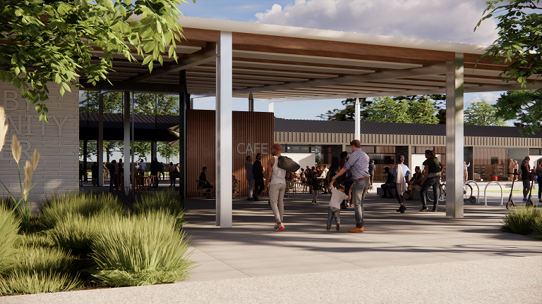 The new Hornby centre has been designed by Warren and Mahoney, with input from the community....