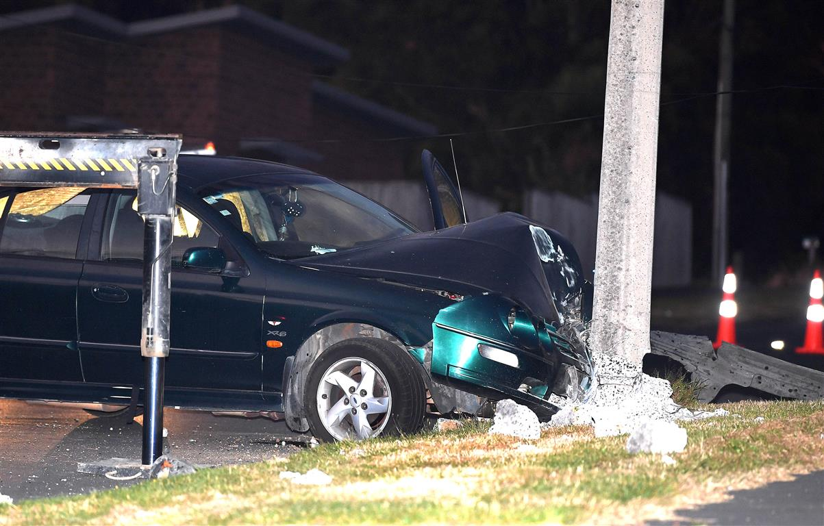 The crash occurred about 5.30am on Monday. Photo: Stephen Jaquiery