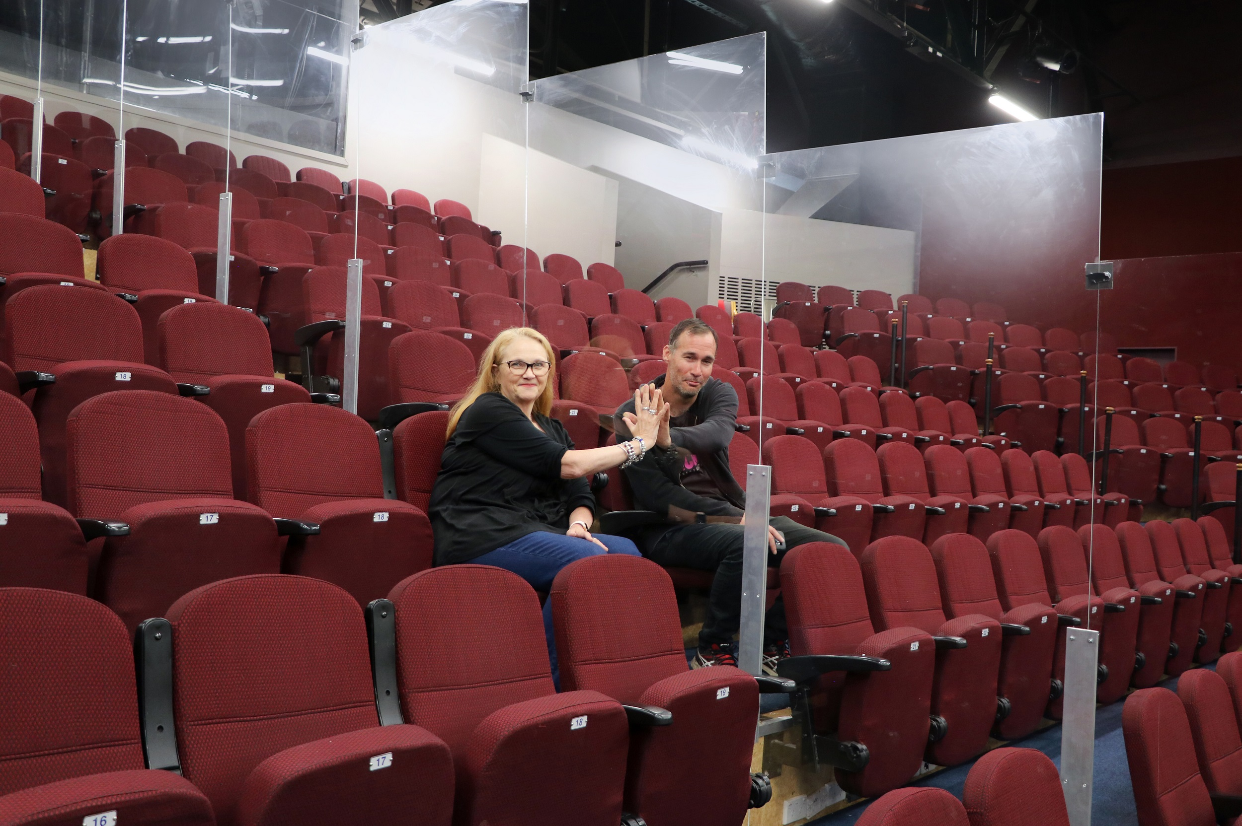The Court Theatre's construction and premises manger Bryce Goddard and chief executive Barbara...