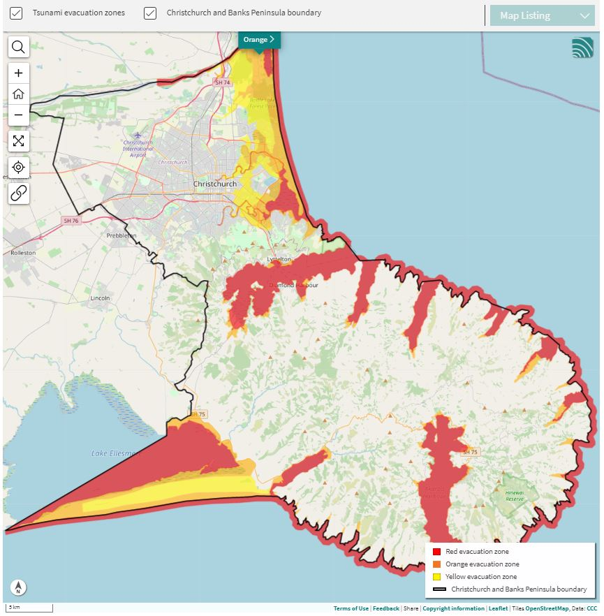 Visit ccc.govt.nz/services/civil-defence/hazards/tsunami-evacuation-zones-and-routes to use the...