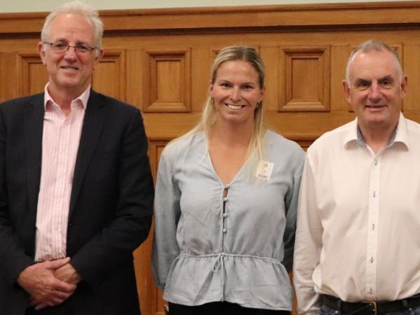Greg O'Connor, Constable Rachel Clarke and Trevor Mallard. Photo: NZ Police