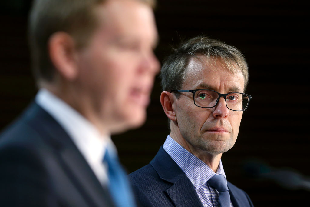 Director-General of Health Ashley Bloomfield (right) and Covid 19 Response Minister Chris Hipkins...