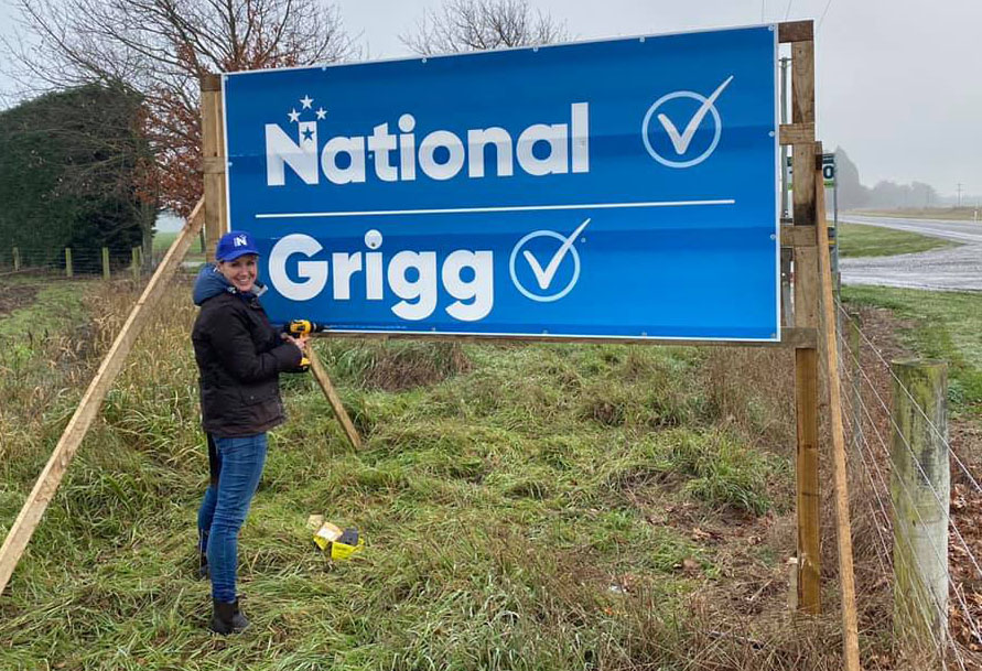 Nicola Grigg on the campaign trail. Photo: Facebook