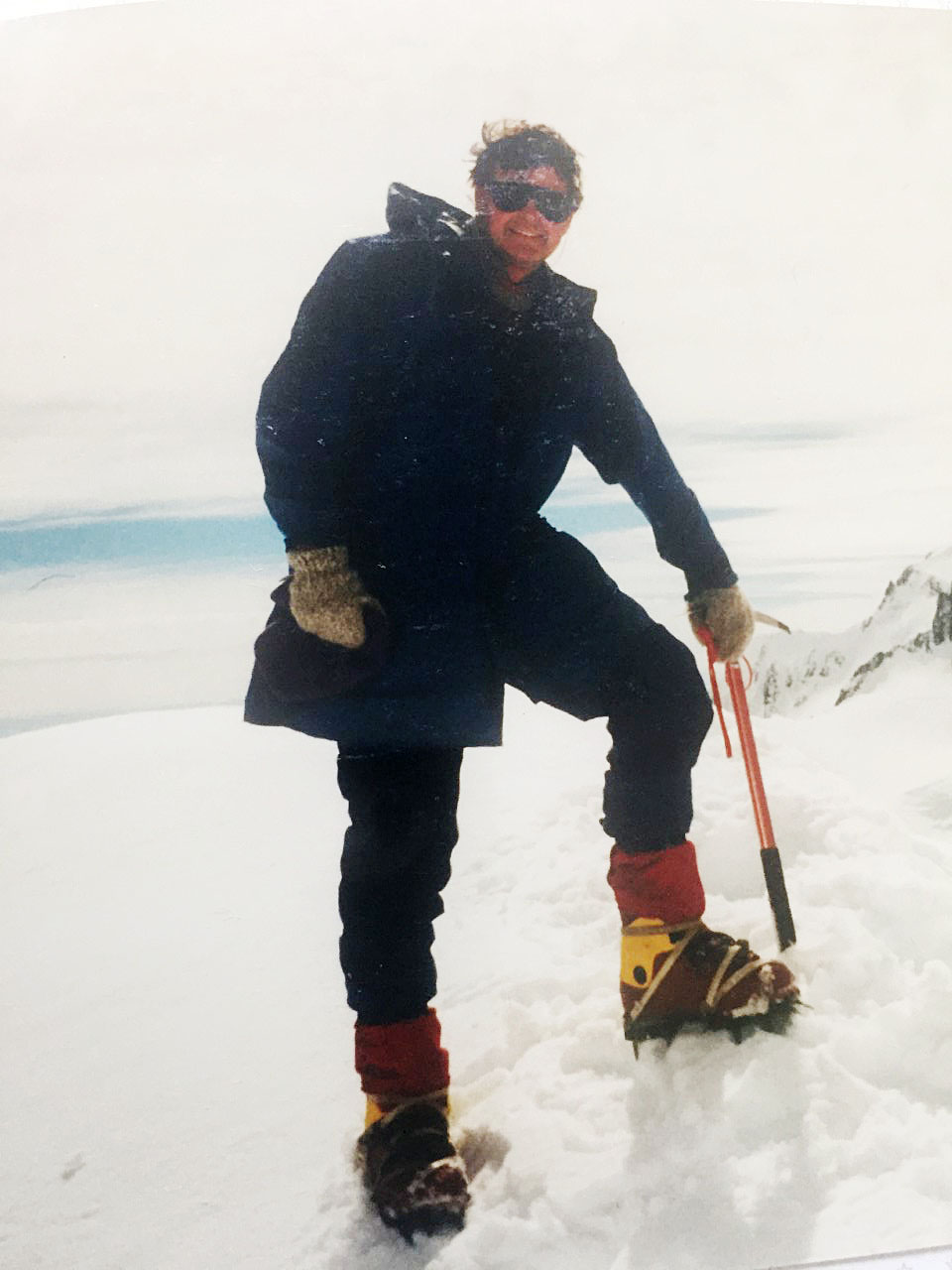 John Veale on Mt Sefton in 1984. Photo: Supplied