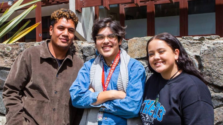 Favor Leavasa, Solomon Davis and Kisania Shingleton are taking part in the University of...