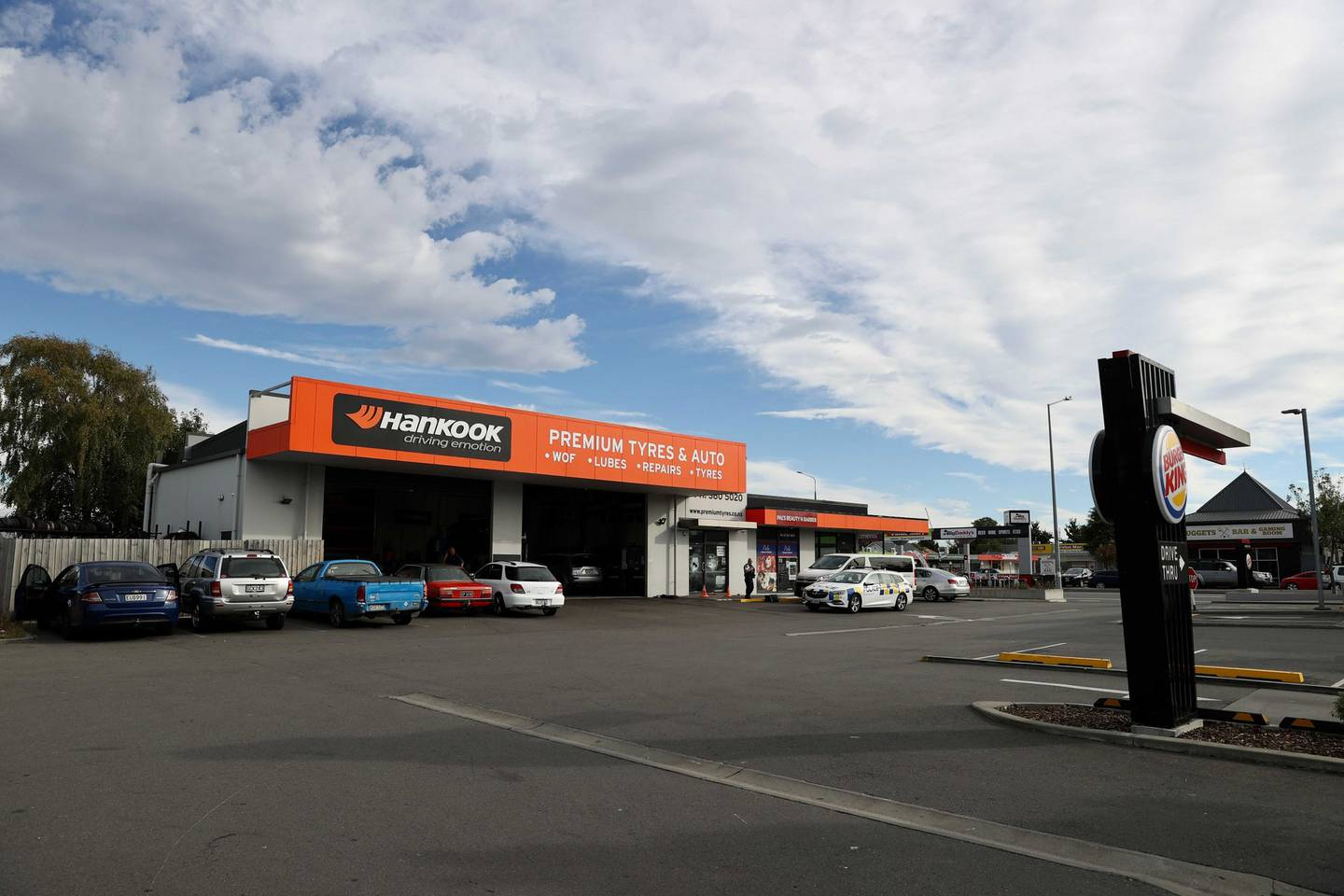 Premium Tyres & Auto on Linwood Ave was targeted early this morning. Photo: George Heard