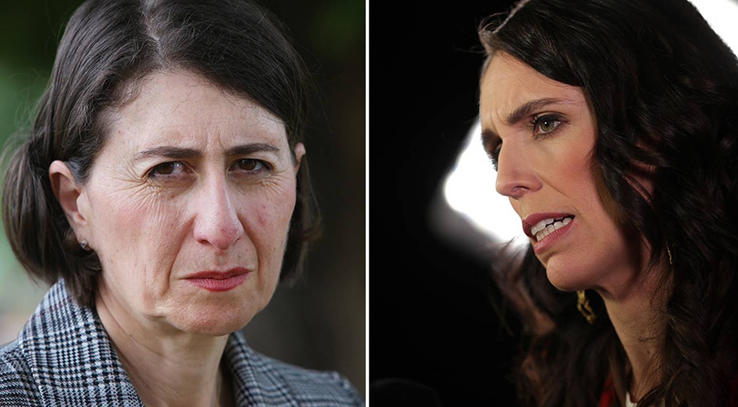Gladys Berejiklian (left) and Jacinda Ardern. Photo: NZ Herald