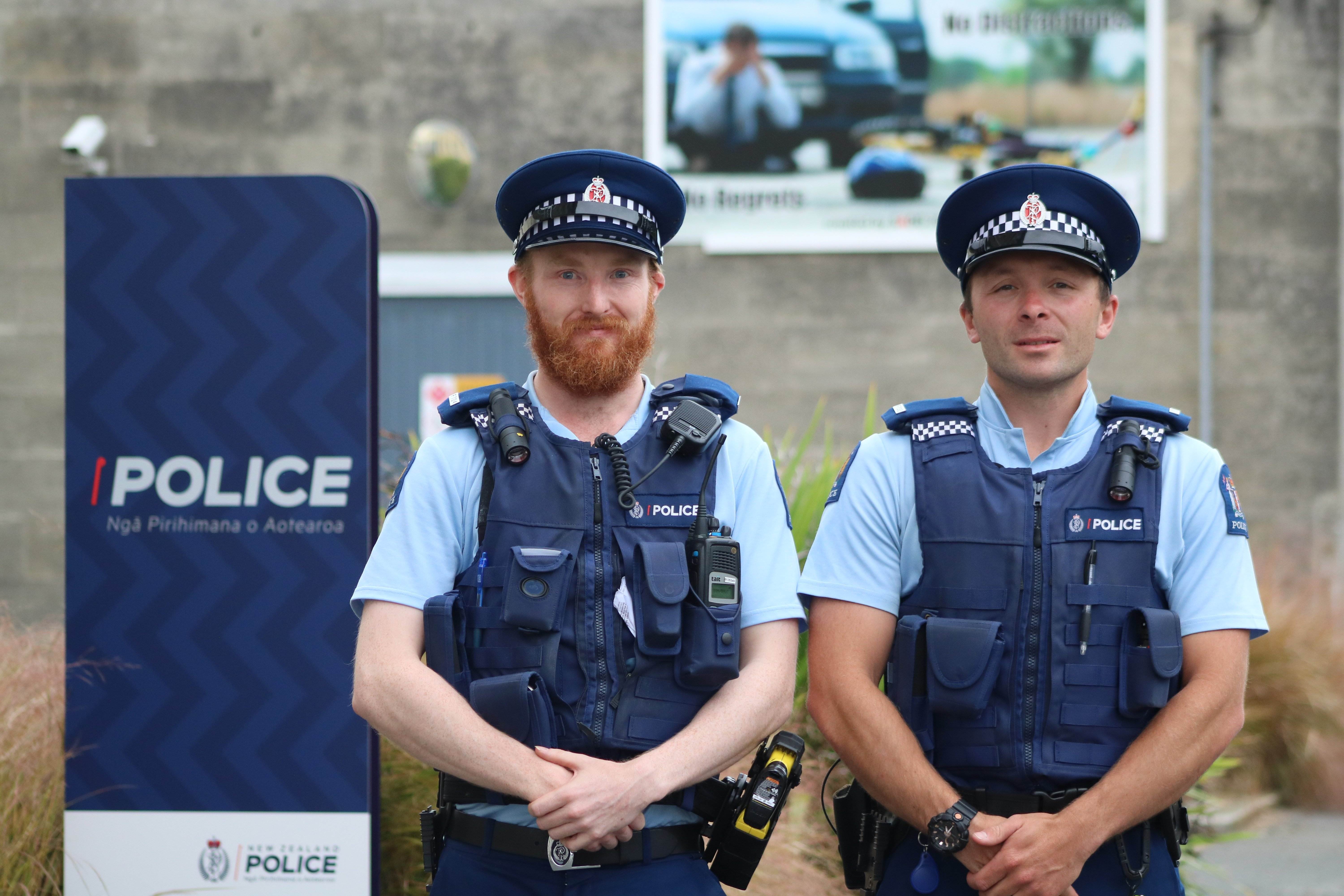 Oamaru's newest police officers, Constable Matt Davey (left) and Constable Mitch McRae. PHOTOS:...