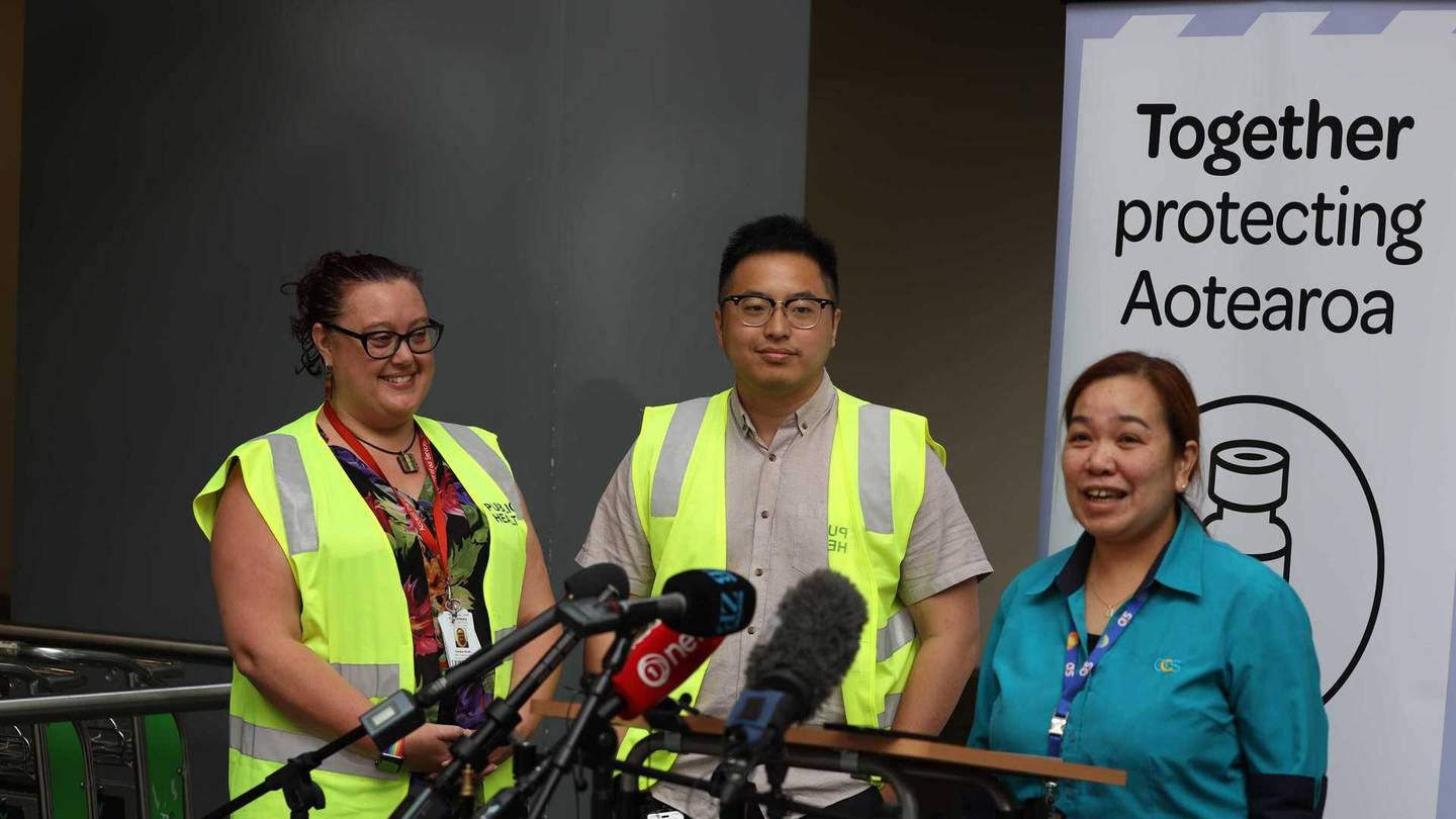 Border workers at Christchurch International Airport will be vaccinated at midday. Photo: George...