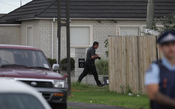 Police were called to a house in Avis Avenue about 5.40pm yesterday. Photo: RNZ