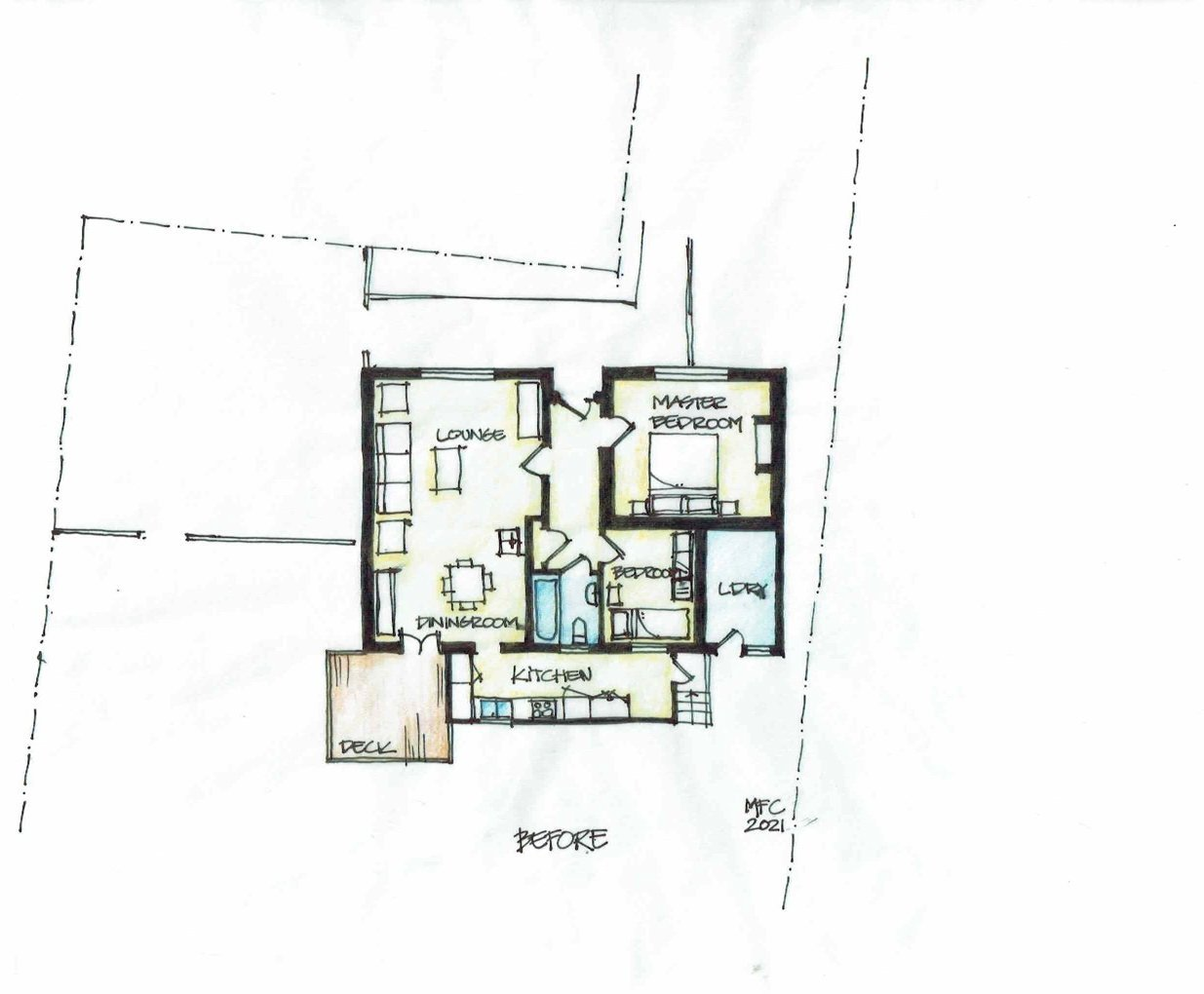 About 20sq m were added to the house and the remaining spaces were reorganised. IMAGES: SUR...