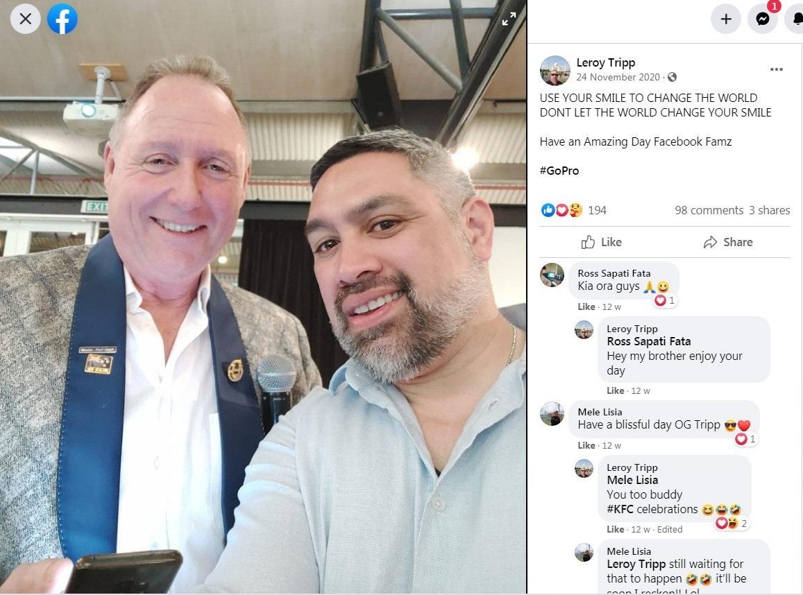 Evorich New Zealand director Neil Morrison (left) and Evorich promoter Leroy Tripp, in a...