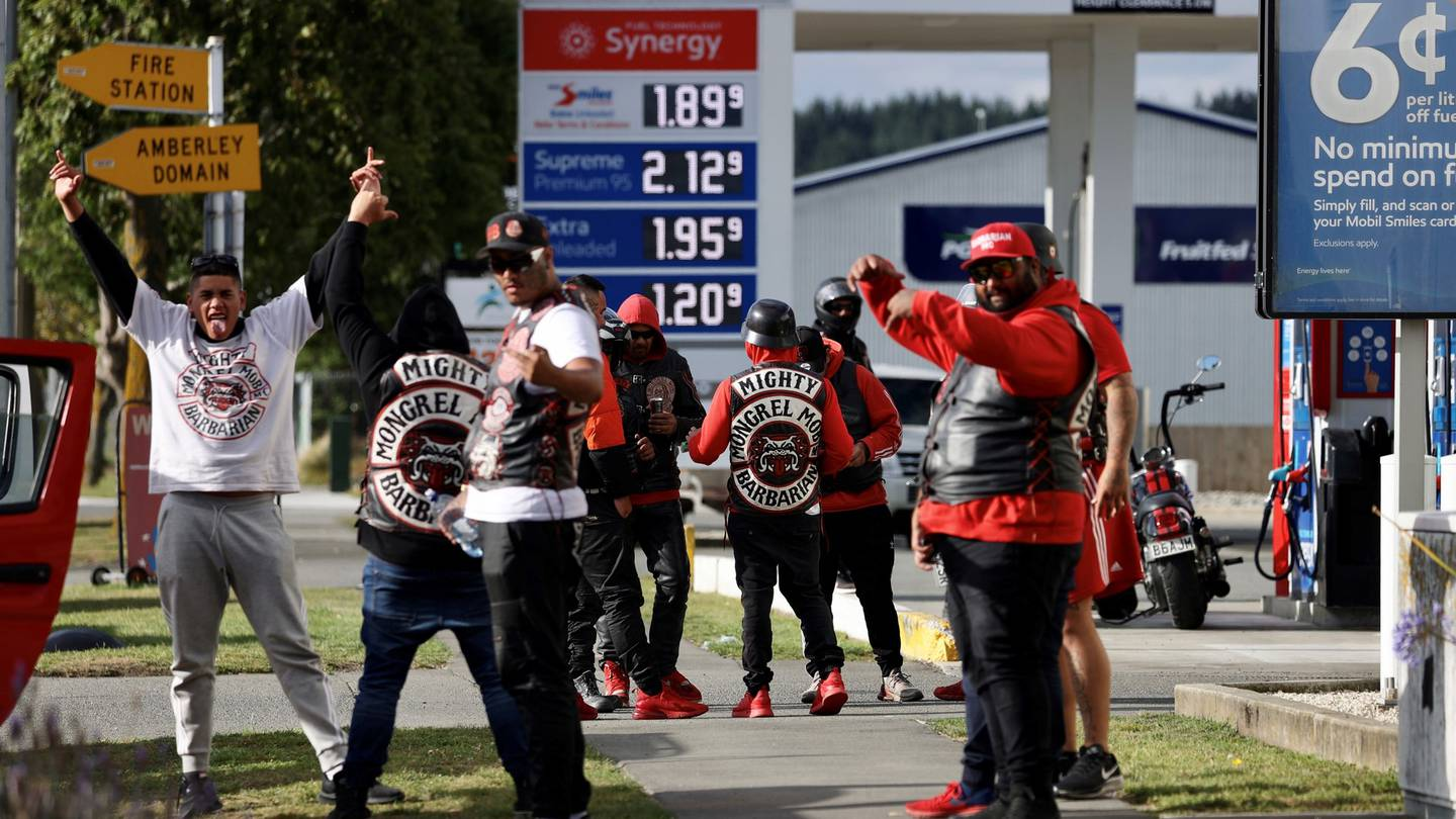 The Mighty Mongrel Mob Barbarian MC - a motorcycle chapter offshoot of New Zealand's biggest gang...