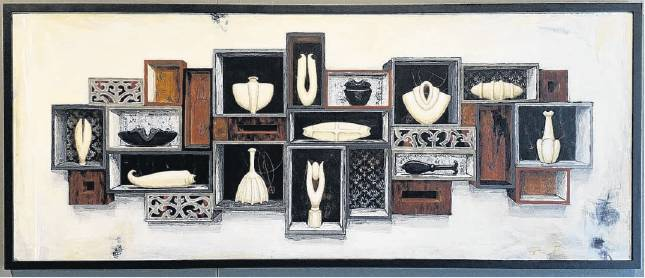 Still life with obsidian seed by Megan Huffadine. Image: supplied