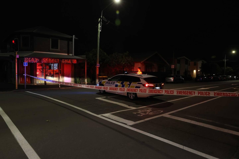 Police on Armagh St. Photo: George Heard / NZH