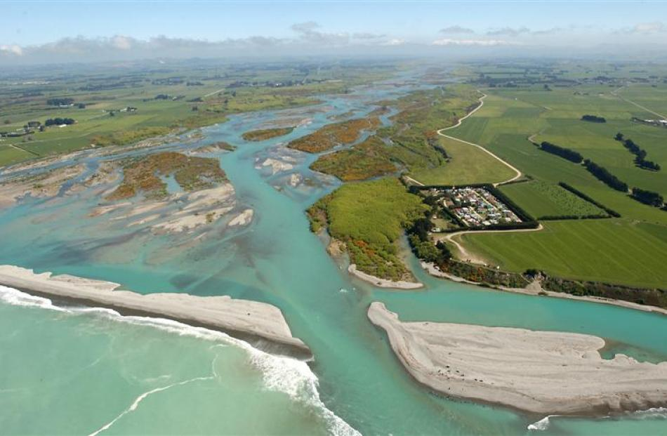 The Waitaki River mouth. File photo