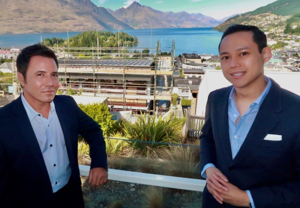 The Carlin developer Kevin Carlin (L) and managing partner Nick Liang overlooking a three-level...