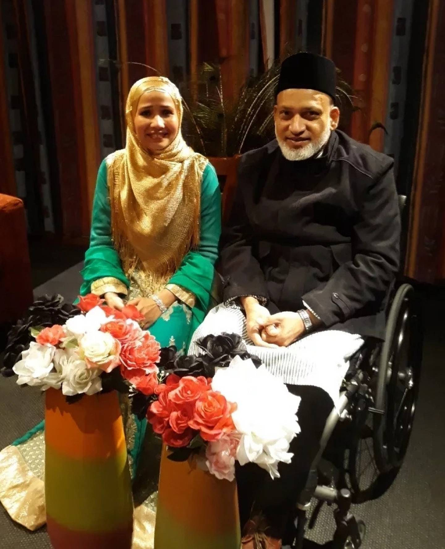 Husna Ahmed and husband Farid Ahmed in the last picture taken of them together. Photo: Supplied