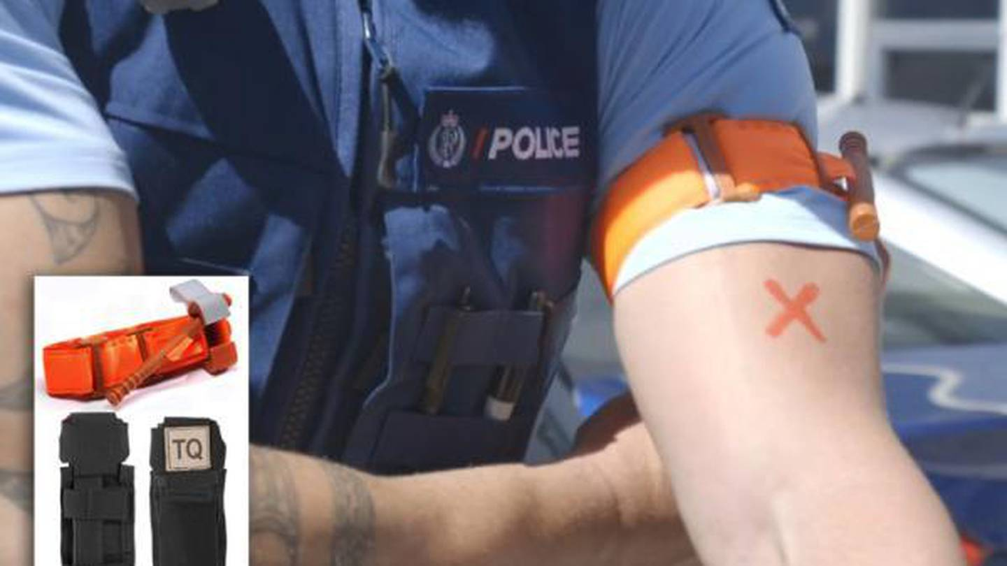The police issued tourniquets. Photo: Supplied