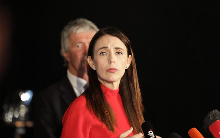 Prime Minister Jacinda Ardern and Trade and Export Growth Minister Damien O'Connor at today's...