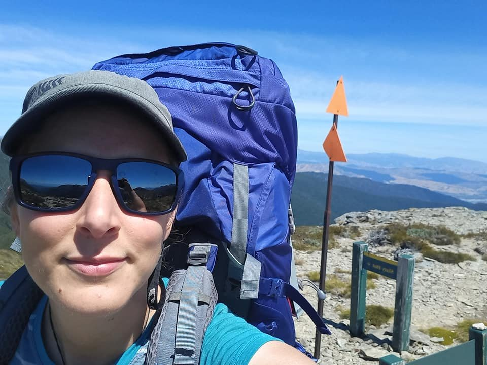 Barbora Padertova just 250km along the Te Araroa Trail on the Richmond Range after completing a...