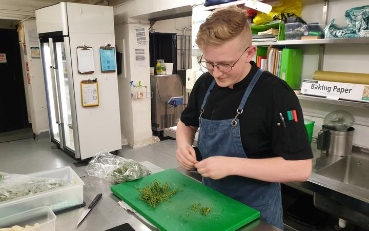 Logan Brown prep chef Josh. Photo: RNZ