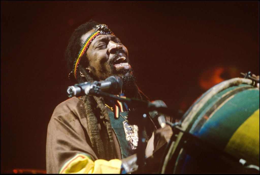 Bunny Wailer performing at The Academy, London, in June 1990. Photo: Getty