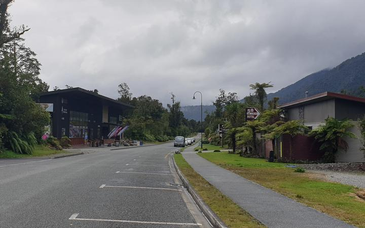 A deserted Franz Josef street with accommodation providers during the current alert level 2...