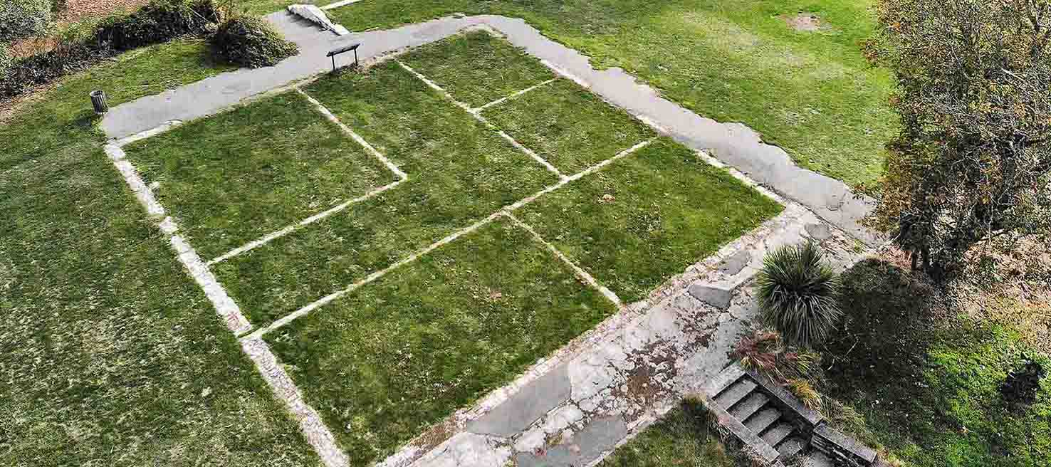 The foundations of Godley House are part of the Stoddart Point Reserve. Photo: Newsline