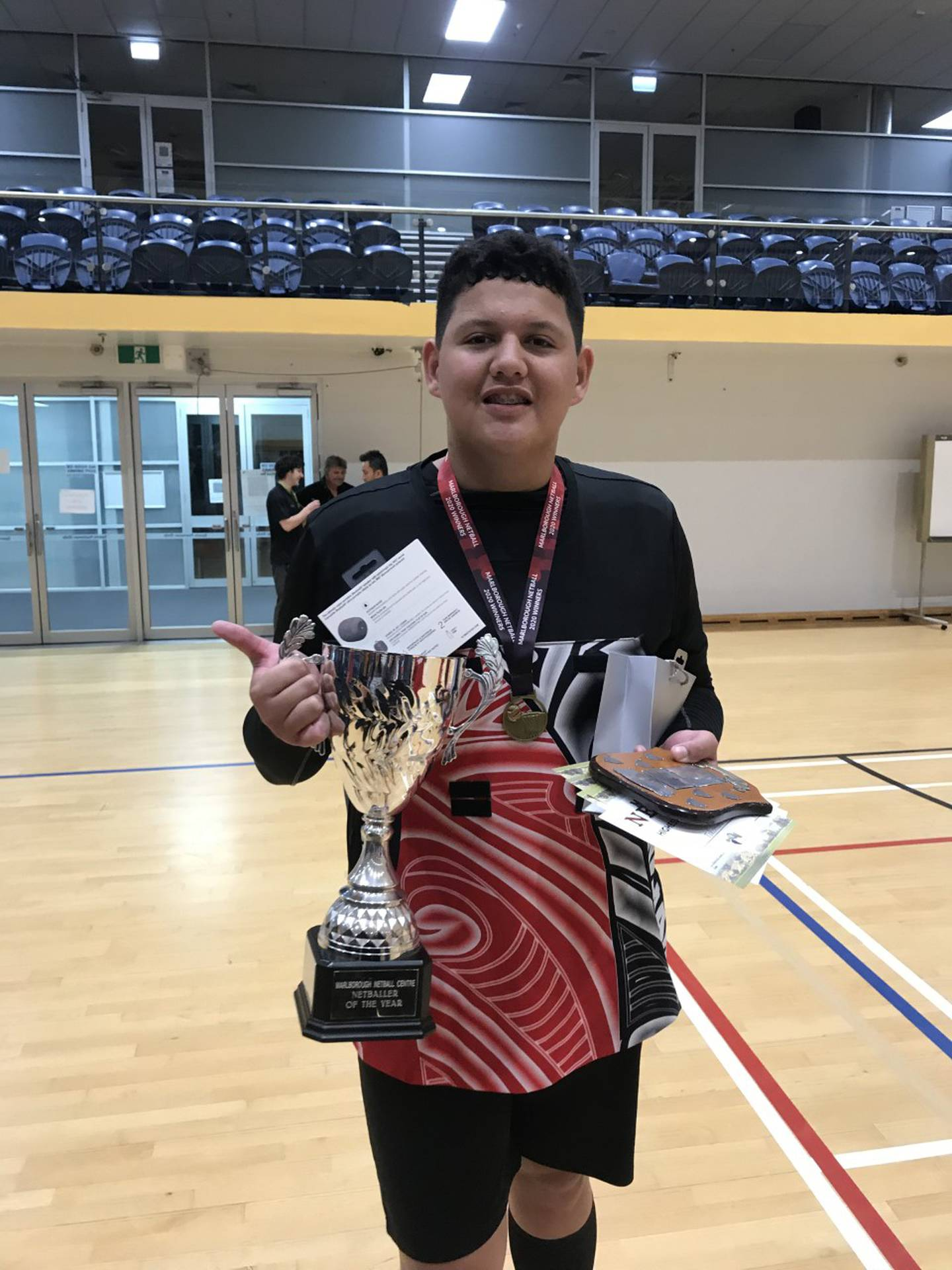 Rising netball star Haze Tepuia cannot play in a club competition this year because he is a boy....