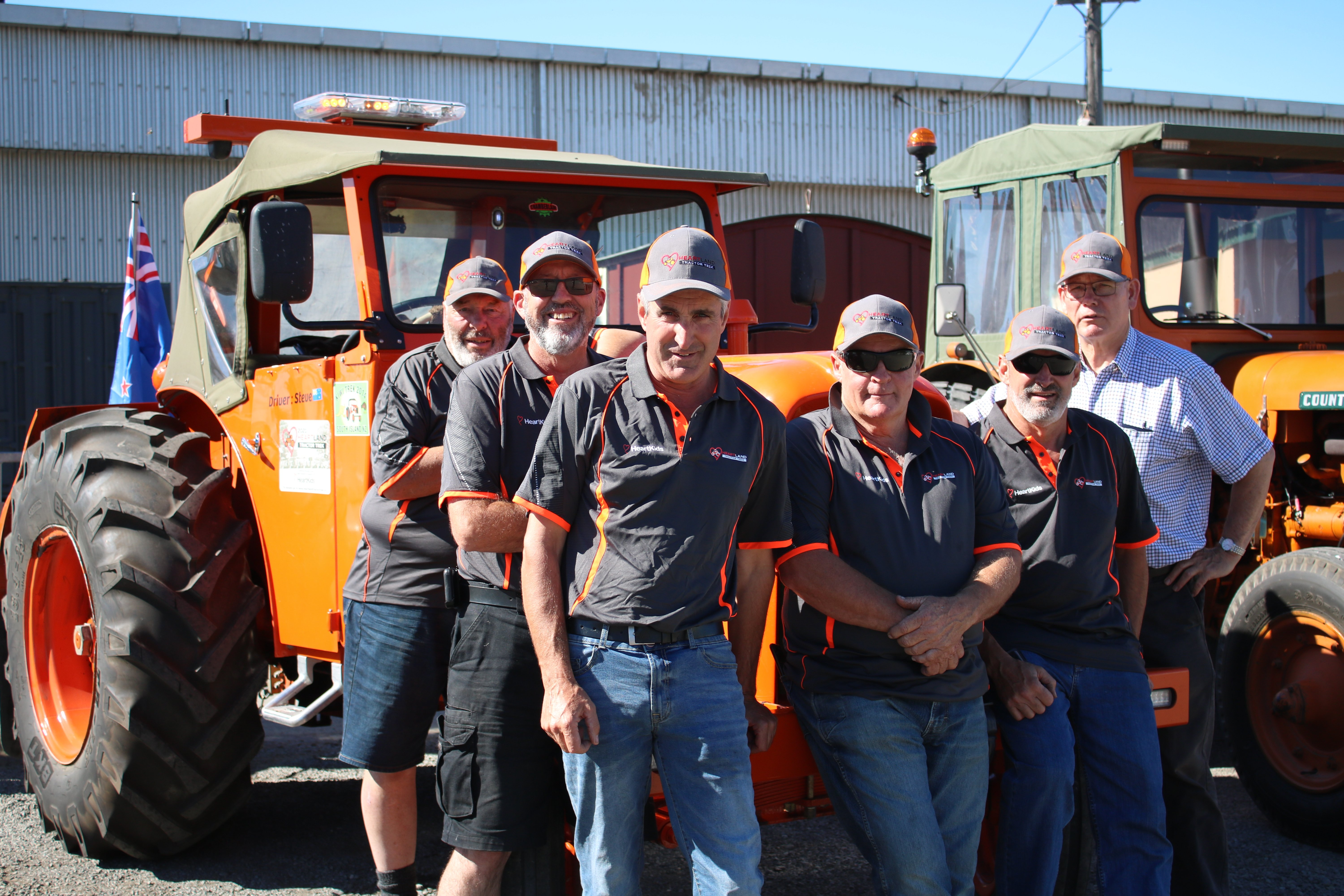 The Heartland Tractor Trek stops in Oamaru yesterday as the group makes its way from New Plymouth...