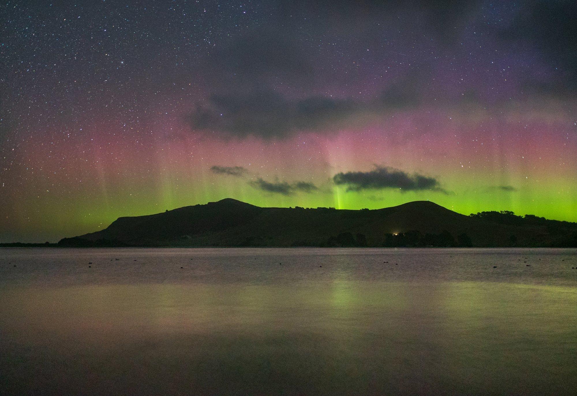 The aurora australis seen from Otago Peninsula. PHOTO: IAN GRIFFIN