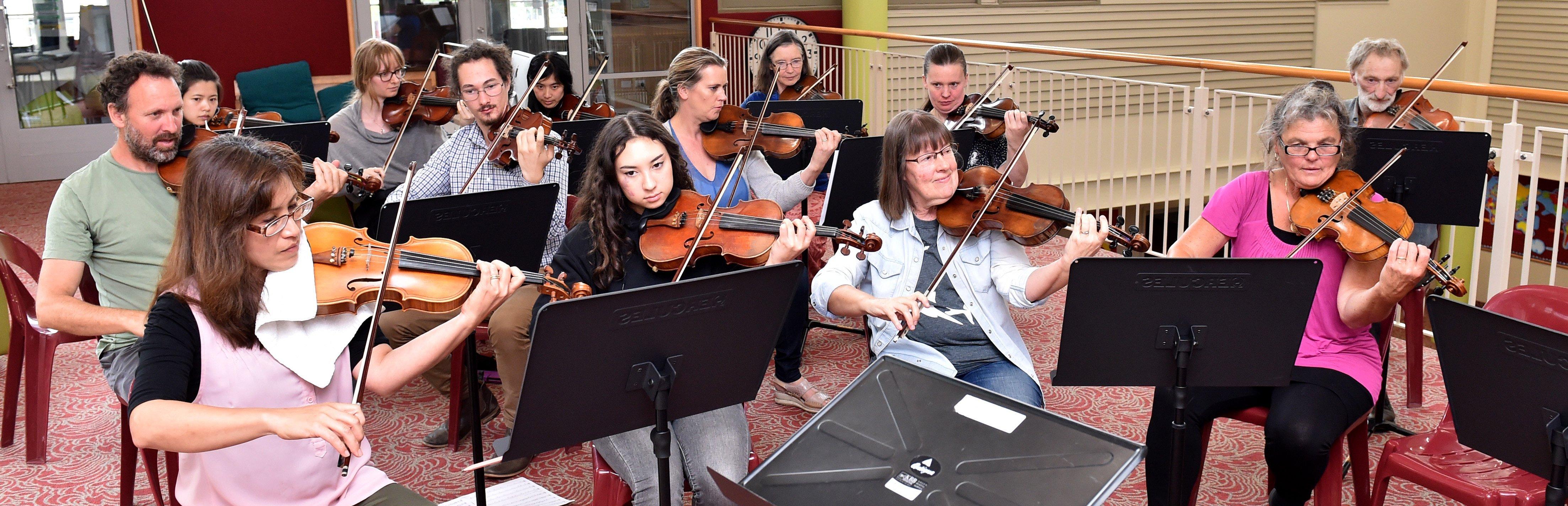 """""""Members'' of Strork rehearse for their Fringe Festival concert. PHOTO: GREGOR RICHARDSON"""