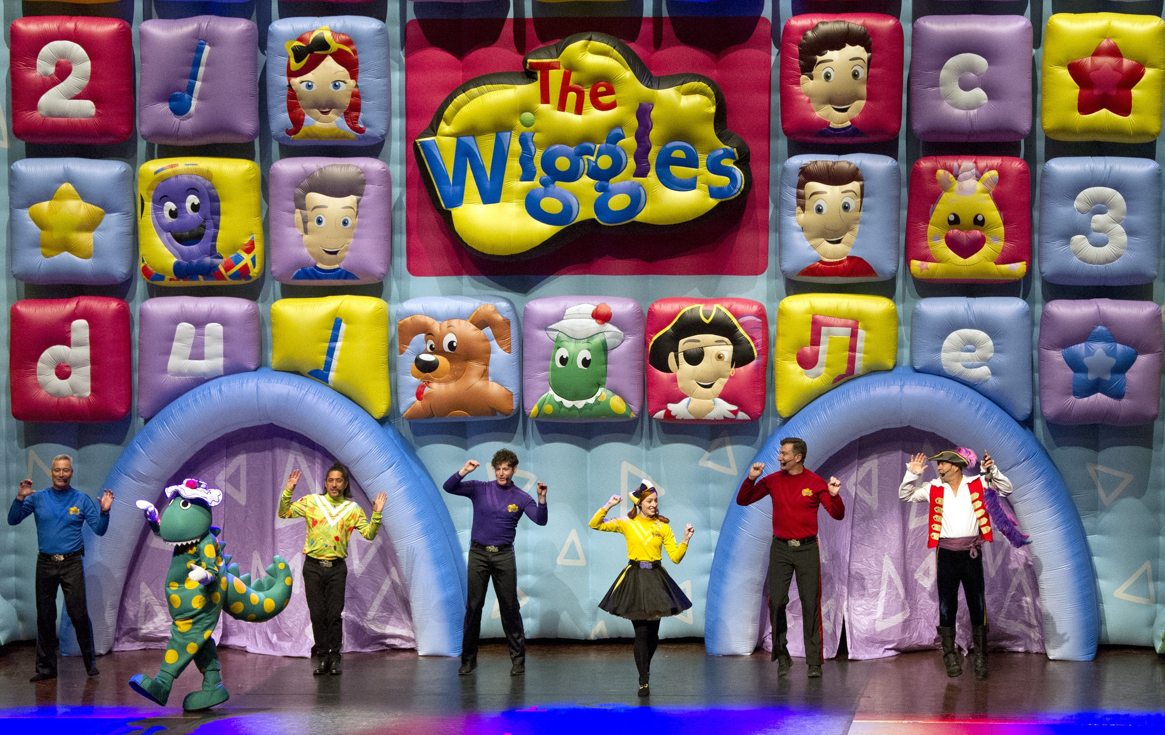 The Wiggles, along with fan favourites Dorothy the Dinosaur and Captain Feathersword, entertain...