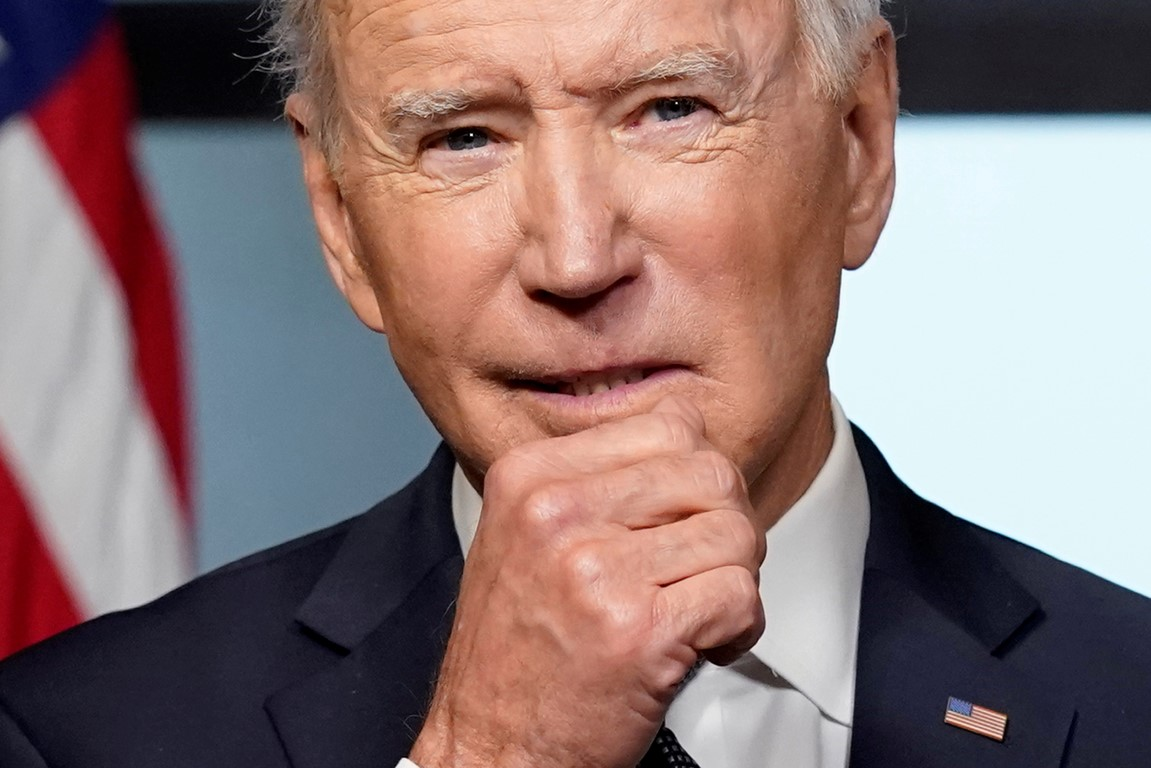 US President Joe Biden outlines his plan to withdraw American troops from Afghanistan, at the...