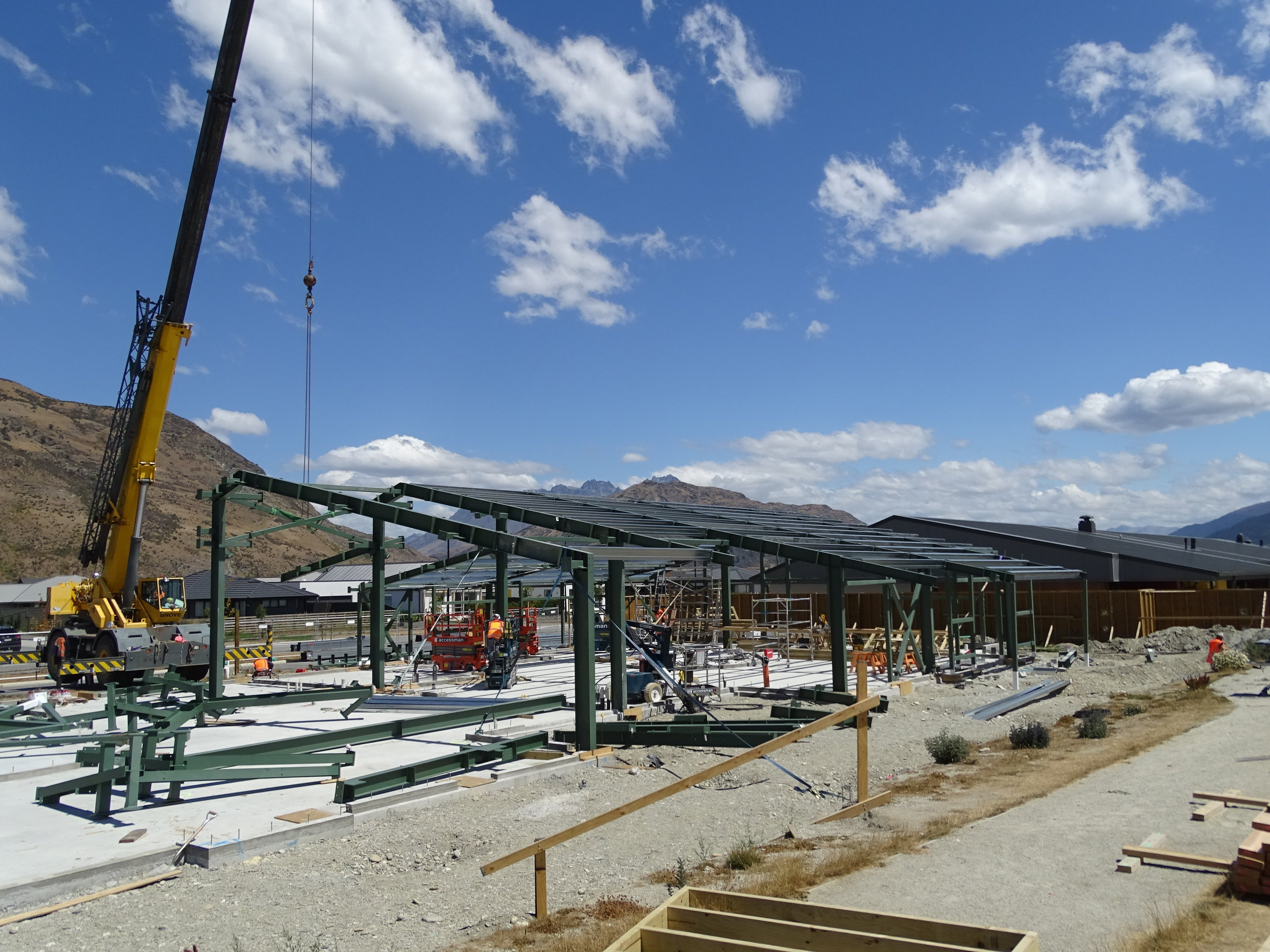 Construction on the new teaching space at Queenstown's Shotover Primary School begins in 2018. Photo: Guy Williams
