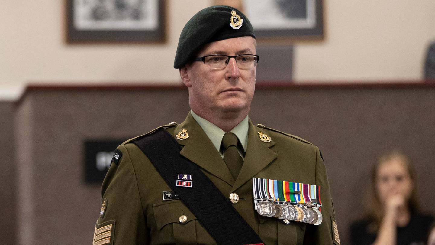 Royal New Zealand Army Medical Corps staff sergeant Jeremy Leslie Boyd denies charges and stands...