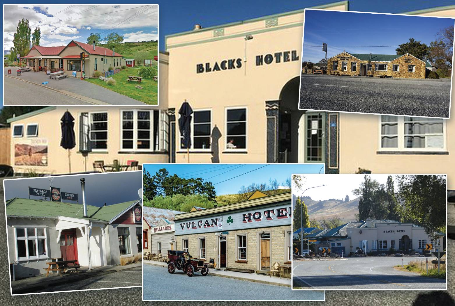 Several Central Otago pubs and hotels have either been sold in the past 12 months or are in the process of negotiation. PHOTO MONTAGE: ALISTAIR CRAIG
