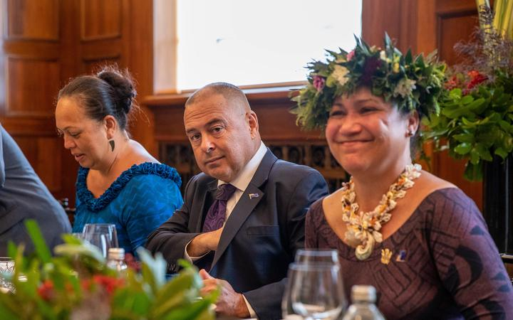Cook Islands Prime Minister Mark Brown during his visit to New Zealand last month. Photo: RNZ