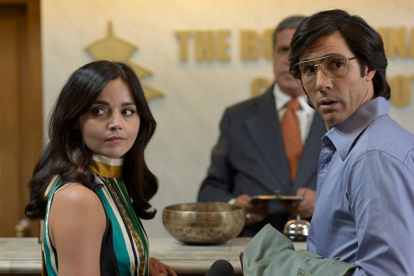 Jenna Coleman and Tahar Rahim playi Marie-Andrée Leclerc and Charles Sobhraj in the Netflix drama...