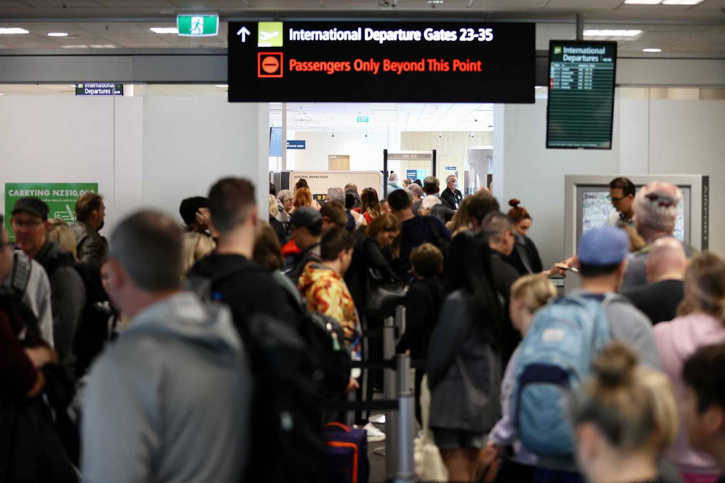 Christchurch Airport full with people travelling to Australia as the quarantine-free transtasman...